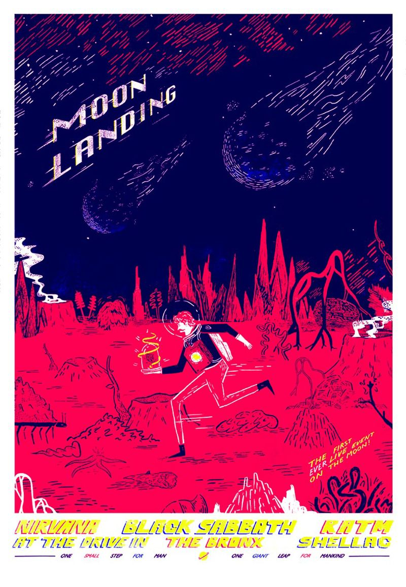 10 awesome moon landing posters